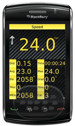 Esta es la versión gratuita del popular aplicación GPSpeedOMeter PRO, aplicacion con interfaz simple que muestra la mayoría de los mismos datos que la versión Pro tiene, pero no se encuentra sólo algunas de las características más avanzadas de la versión PRO. Antes de descargar por favor asegúrese de tener un gps blackberry activado el GPS se requiere para esta aplicación para ejecutar. Las características de esta aplicación son: velocidad, velocidad media, velocidad máxima, distancia, tiempo, elevación, Max elevación, gradienteTotal de ascenso / descenso, paso, ritmo medio, Mapas de ruta (Integrated BBMaps), elevación gráficoAlmacenar el historial de viajes, Enviar a
