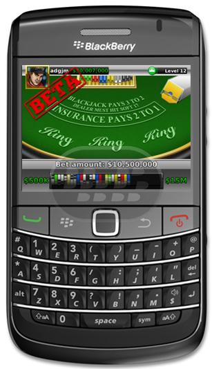 Blackjack for blackberry