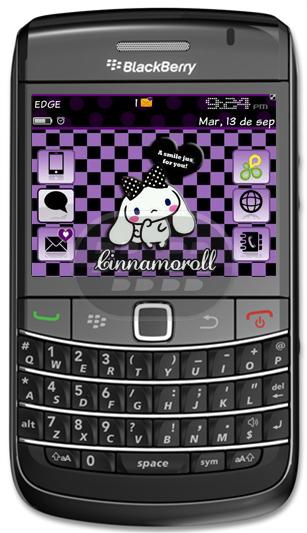 Cinnamoroll es un perrito blanco de orejas largas que le permiten volar, ojos azules, y una cola gorda y rizado que se parece a un rollo de canela. Compatibilidad BlackBerry OS 6.0 9650/9700/9780 Descarag OTA / OFFLINE tema gratuito gracias a @nannybb_ Fuente:blackberrygratuito