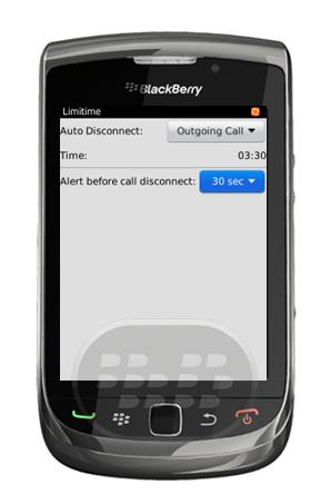 ¿Con qué frecuencia hacer una llamada telefónica de manera ilimitada? ¿Cuanto dinero ha perdido por hablas de mas? si usted es una persona que no pierde el control del tiempo y necesita ahorrar: tal vez usted necesite probar esta aplicación. Llame a su límite, una aplicación que le ayuda a fijar el momento de la llamada. Limittime es muy útil para usuarios que comparten el teléfono con la familia o de prepago el uso del teléfono móvil. Las solicitudes están disponibles de forma gratuita en App World le permite establecer límite de tiempo de guardia. Usted puede elegir para desconectar,