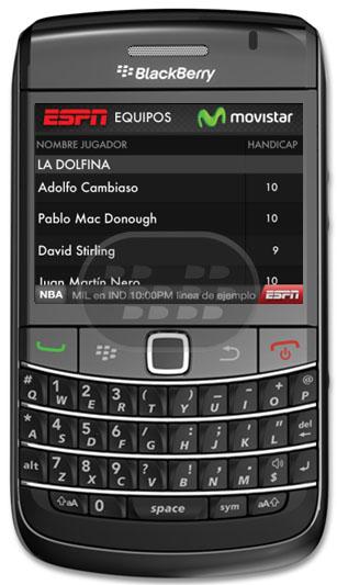 Aplicación creada por ESPN para los fans de Polo. Resultados en vivo, el equipos, y la información de los jugadores y mucho más … Compatibilidad BlackBerry OS 5.0 o Superior BlackBerry 8520, 8530, 8900, 8910, 8980, 9000, 9300, 9330, 9650, 9700, 9780, 9800, 9810 Descarga APPWORLD Fuente:blackberrygratuito