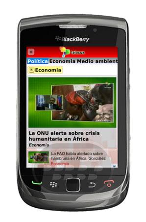 Todo el contenido de vídeo y transmisión en vivo de teleSUR en el dispositivo BlackBerry ® móvil. Obtenga las últimas noticias de vídeo en su móvil, incluyendo noticias de teleSUR, programas, entrevistas y mucho más. Compartir sus vídeos favoritos a través de redes de correo electrónico o social. Buscar en toda la base de datos de vídeo teleSUR con filtrado avanzado y búsqueda de texto. TeleSUR ver en directo siempre que tengas conexión. (Nota:. Una conexión WiFi o conexión móvil de calidad se recomienda para la reproducción de vídeo y transmisión en vivo algunos videos largos y transmisión en vivo