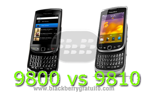 BlackBerry Torch 9800 vs 9810