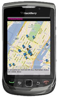 Visiourbano para Blackberry. Visiourbano es una aplicación para Smartphones BlackBerry, que te permitirá encontrar todos aquellos lugares atractivos de ocio urbano cercano a tu ubicación Visiourbano permite ver y buscar información acerca de tu entorno. ¿Cuántas veces has tenido la necesidad de encontrar el Café más cercano? Visiourbano hace uso del GPS que cuenta el dispositivo; sin embargo si tu dispositivo no cuenta con GPS, igual podrás saber una ubicación cercana con respecto a tu localización. Has de tu ciudad un lugar más entretenido, aprendiendo y enseñando a otros usuarios aquellos lugares interesantes, como: Cafés, Pubs, Atracciones turísticas, teatros, museos,
