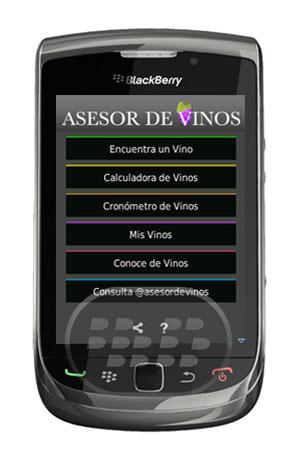 Asesor de Vinos: Es una aplicación con muchas herramientas e información sobre el vino. Entre la categorias más sobresalientes:Encuentra un Vino (para una ocasión, para acompañar una comida)Calculadora de vinosCronómetro de Vinos.Con esta aplicación conocerás mucho más de Vinos. Compatibilidad BlackBerry OS 5.0 o Superior BlackBerry 85xx, 89xx, 9000, 92xx, 93xx, 95xx, 96xx, 97xx, 98xx, 99xx Descarga APPWORLD Fuente:blackberrygratuito