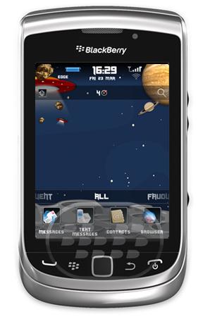 Explora el espacio con este excelente tema que convierte tu BlackBerry en un ambinete del espacio! El fondo de pantalla es personalizable para que pueda usar la imagen propia UR y todavía se verá hermoso! * Como se ve en la captura de pantalla * Compatibilidad BlackBerry OS 6.0, 7.0 y 7.1 BlackBerry 9100, 9105, 9300, 9330, 9350, 9360, 9370, 9380, 9650, 9670, 9700, 9780, 9790, 9800, 9810, 9850, 9860, 9900, 9930, 9981 Descarga APPWORLD Fuente:blackberrygratuito
