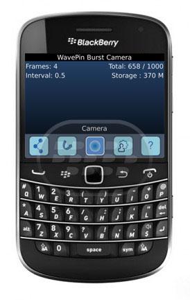 WavePin Burst Camera: es una aplicación que dispara hasta 32 imágenes por captura. Dispone de dos modos: Silencio y de la cámara. El modo silencioso utiliza captura de pantalla. El modo de cámara utiliza la cámara real (2560 x 1920 píxeles). Dispone de un visor incorporado que le permite administrar fácilmente las imágenes. Usted puede compartir fácilmente fotografías con BBM, Facebook, Twitter y correo electrónico. El visor permite la selección múltiple y la eliminación. Versión de prueba no tiene fecha de vencimiento. Versión de prueba tiene una capacidad limitada, los intervalos de tiempo, y los números de bastidor. Al llegar