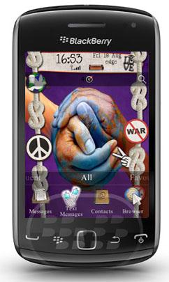 World Peace: es un tema gratuito que refleja la paz, iconos gestos e imagenes que llaman a un mundo donde reine la tranquilidad. Se puede utilizar con su propio fondo de pantalla El tema cuenta con un conjunto de iconos 3d 3d y medidor de la batería! Compatibilidad BlackBerry OS 6.0, 7.0 y 7.1 BlackBerry 9300, 9330, 9350, 9360, 9370, 9380, 9650, 97xx, 98xx, 9900, 9930, 9981 Descarga APPWORLD Fuente:blackberrygratuito