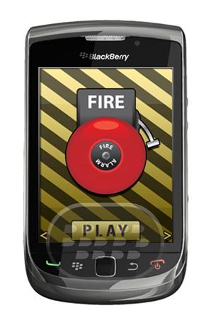 Elige entre muchas alarmas falsas, tales como: Alarma de incendio, alarma de aire, alarma de coche, altavoz Policía, Reloj Despertador, campana de alarma, y mucho más. Las alarmas vienen con gráficos animados y tambien se encuentra disponible para BlackBerry PlayBook Compatibilidad BlackBerry OS 4.5 o Superior BlackBerry 85xx, 89xx, 93xx, 95xx, 96xx, 97xx, 9800, 99xx y PlayBook Descarga APPWORLD Fuente:blackberrygratuito