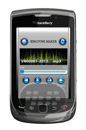 Ringtone Creator: es una aplicación que le permite crear fácilmente tus propios timbres directamente desde su BlackBerry! Sólo tiene que seleccionar un archivo MP3, marcar el inicio y el punto final y haga clic en para guardar su propio tono. Es así de simple! Ringtone Creator también le permite ajustar la longitud del tono de llamada y hacer coincidir el sonido que estás buscando. Es una aplicación ideal para hacer tonos de llamada personalizados. Características:• Basta con elegir una canción, seleccionar un punto inicial y final y guardar el archivo nuevo tono de timbre• La pantalla de avanzada puesta a