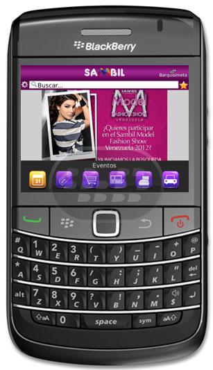 Sambil: Es una aplicación gratuita que le permite obtener mas informacion de la mayor cadena de centros comerciales en Venezuela, Guía de Sambil. Compatibilidad BlackBerry OS 5.0 o Superior BlackBerry 85xx, 89xx, 9000, 91xx, 92xx, 93xx, 95xx, 96xx, 97xx, 98xx, 99xx Descarga APPWORLD Fuente:blackberrygratuito