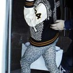 Spiked Varsity Letterman's Jacket It's Gotta Be Lady Gaga
