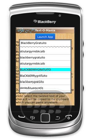 ¿Cómo voltear texto desde dispositivos BlackBerry? Text o Mania: es una aplicación que permite voltear el texto tal y como se muestra en el siguiente ejemplo: ¡ʇı PIP noʎ ʍoɥ noʎ ʞsɐ puɐ snoıɹnɔ ʎʇʇǝɹd ʇǝƃ llıʍ spuǝıɹɟ ɹnoʎ ʇǝq ǝʍ Usted puede uesar en ualquier lugar Úselo en BBM , mensajería instantánea, correo electrónico crear funky, SMS, Facebook, Twitter, Yahoo! Messenger, eBuddy, Google Talk, Windows Live Messenger, blogs, foros y casi cualquier otra red social! Características:• Utilice el texto girado en los chats, mensajes, actualizaciones de estado y publicaciones en el muro!• Utilice el revés o invertida texto como