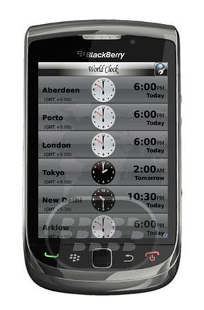 World Clock : es una aplicación que le permite conocer el tiempo en más de 1,500 ciudades del mundo! Características:* Añadir tantas ciudades como desee (Rápido y Fácil)* Formatos de cambio de tiempo (relojes Blanco y Negro para representar el día y la noche, respectivamente)* Comparación de tiempo de dos o más ciudades* Reorganizar las ciudades como por las necesidades Compatibilidad BlackBerry OS 5.0 o Superior BlackBerry 85xx, 89xx, 9000, 91xx, 92xx, 93xx, 95xx, 96xx, 97xx, 98xx, 99xx Descarga APPWORLD Fuente:blackberrygratuito