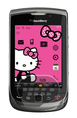 Hello Kitty Cute Tibbon: Es otro tema gratuito de hello kitty para dispositivos BlackBerry. CaracterísticasFondo de pantalla de Hello Kitty.Iconos de color negro.Icono se Selección corazón. Descarga OTA 9700/9780 os 6.0 | OTA (9800)Fuente:blackberrygratuito