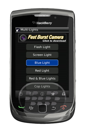 Esta es una aplicación de linterna otra alternativa más, que utiliza la luz de la cámara o en la pantalla para alumbrar en lugares oscuros Multi-Lights también vienen con la luz de la pantalla, la luz roja, luz azul y luces de Policia. Es una aplicación que te da múltiples opciones de iluminación. Compatibilidad BlackBerry OS 5.0 o Superior BlackBerry 85xx, 89xx, 9000, 91xx, 9220, 3xx, 95xx, 96xx, 97xx, 98xx, 99xx Descarga APPWORLDFuente:blackberrygratuito