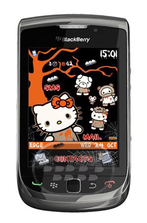 Halloween Zombie: es un tema de hello kitty estilo noche de brujas, el tema viene precarcargado con un bonito fondo de pantalla de halloween, colores predominantes, gris y naranja. Descarga OTA (8520, 8530, 9300, 9330 OS 5.0) Descarga OTA (9800 OS 6.0) Fuente:blackberrygratuito