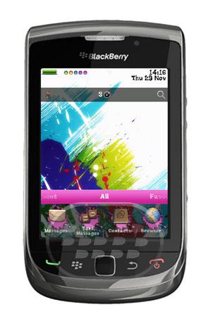 Paint Splash : Es un tema muy colorido, introduce un nuevo tema dinámico para BlackBerry. Nota: Las pantallas de llamada no están personalizados para OS7 Devices. Para aplicar tema después de transferencia directa y la instalación exitosa:Navegue a las opciones – tema – seleccione el tema nuevamente transferido para aplicarse Características:* Los iconos de colores* Batería colorido y medidor de señal* Fácil de usar iconos* Rápido y ágil* Limpio, sencillo y profesional* Imágenes originales Compatibilidad BlackBerry OS 5.0 o Superior BlackBerry 85xx, 89xx, 9000, 91xx, 9220, 93xx, 95xx, 9630, 9650, 9670, 97xx, 98xx, 99xx Descarga APPWORLD Fuente:blackberrygratuito