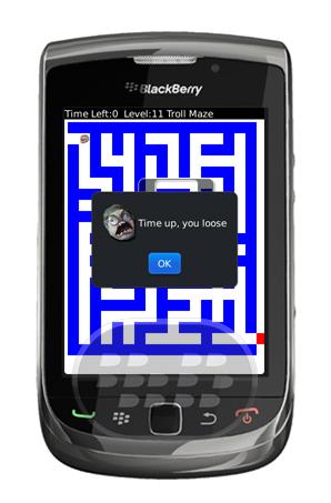 Troll Maze es un juego sencillo de laberinto que demuestra ser desafiante y adictivo. Este juego de laberinto simple consta de 20 niveles, tienes un tiempo limitado para mover la cabeza troll para su salida, recuerde que en casa nivel va incrementando la dificultad, por ultimo puede presentar sus resultados en línea. Compatibilidad BlackBerry OS 5.0 o Superior BlackBerry 85xx, 89xx, 9000, 91xx, 9220, 93xx, 95xx, 96xx, 97xx, 98xx, 99xx Descarga APPWORLD Fuente:blackberrygratuito