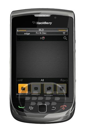 Saffron Theme: es un tema premium gratuito, oscuro con colores predominantes como negro, gris, bordes y selecciones color amarillo con un aspecto elegante le cambiará el aspecto a tu dispositivo. Características:8 iconos fijos en la pantalla de inicio, y el usuario 6 definen los iconos en la pantalla principalMedidor de batería personalizado5 diferentes fondos de pantala abstractos que se adaptan a ese temaIconos personalizados. Compatibilidad BlackBerry OS 4.5 o Superior BlackBerry 83xx, 85xx, 87xx, 89xx, 9000, 91xx, 9300, 95xx, 9630, 9650, 9700, 9780, 9800 Descarga APPWORLD Fuente:blackberrygratuito