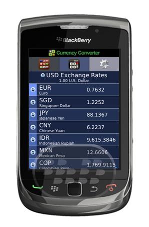 Esta aplicación es una de las mejores en su su tipo, convertidor de divisas, tasas de cambio de las monedas del mundo. Características: 1. El seguimiento de hasta 10 monedas de todo el mundo.2. Apoyo a 150 + monedas en el mundo!3. Esta aplicación es un pago único tiempo y requieren conexión a Internet. No hay ningún cargo oculto!4. Actualización en tiempo real, fiable y preciso. Compatibilidad BlackBerry OS 5.0 o Superior BlackBerry 85xx, 89xx, 9000, 91xx, 9220, 93xx, 95xx, 96xx, 97xx, 98xx, 99xx Descarga APPWORLD Fuente:blackberrygratuito