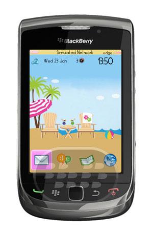 Summer Fun Theme: es un tema de verano, con un aspecto muy llamativo y caricaturezco, posee un fondo de pantalla de la playa, arena, los colores de Selección y menú son celeste claro y rosado. Características:Soporta todos los sistemas operativos 5, 6, 7, 7.1Limpio y amistoso con wallpapers, adquiera más aquíHD (Alta Definición) Fondo de apoyoLandscape para dispositivos torchPantalla de llamada personalizado (* Sólo para OS 5 y 6)tamaño de Fichero minimo Nota: Es probable que le pide reiniciar el dispositivo para que los cambios surtan efectos. Compatibilidad BlackBerry OS 5.0 – 7.1 BlackBerry 85xx, 91xx, 9220, 93xx, 9650, 9670,