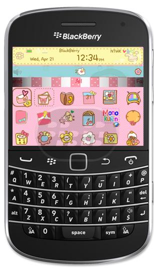 Este es un tema para chicas, disponible para dispositivos BlackBerry con sistema operativo 7.0 Características: – Iconos, fondo de pantalla e indicador de bateria entre otros son totalmente personalizados, para proporcionarle una apariencia agradable. Compatibilidad BlackBerry OS 7.0 o superior BlackBerry 9220, 9310, 9315, 9320, 9350, 9360, 9370, 9380, 9620, 9790, 9810, 9850, 9860, 9900, 9930, 9981 Descarga BlackBerry World