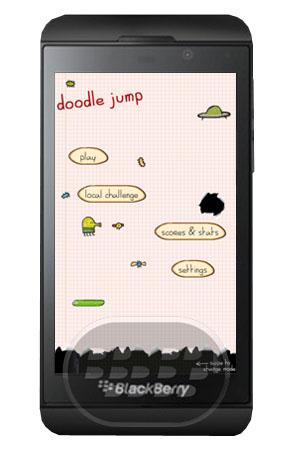 Doodle Jump: es un juego realmente adictivo! Salta, salta hacia arriba, en un viaje elástico utilizando resortes, los paquetes de chorro y más. Evite los obstaculos durante esta aventura, impone records y juego con tus amigos. Compatibilidad BlackBerry OS 10 o Superior Descarga BlackBerry World Fuente:blackberrygratuito