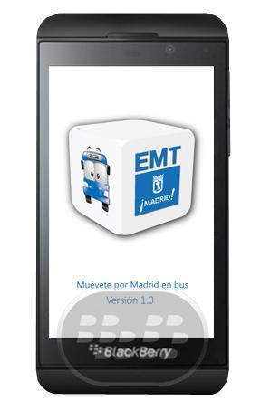 EMT Madrid es una aplicación gratuita para BlackBerry 10 que permite acceder a toda la información relacionada con el servicio de autobuses en tiempo real y desde cualquier lugar. Entre otras características son: Paradas cercanas: Esta opción le permite localizar vía GPS las paradas de autobús en los alrededores. Búsqueda: Introducción de los datos que conozca en el motor de búsqueda (ciudad o parada número) usted será capaz de conocer los nombres de las calles y otras paradas de la zona. Llévame allí: A través de esta función se puede viajar por toda la ciudad sólo enetering el origen y