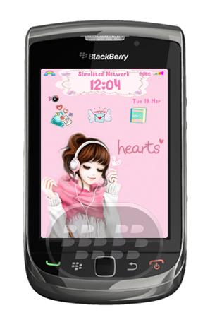 Este es un tema femenino muy bonito, tiene visor de mensajes con color rosa y la fuente interactiva, elegante y fácil de usar. Características: – Fondos de pantalla personalizado.– El icono, nivel de bateria, medidor de seña, la fuente, el indicador y los iconos son personalizados. Nota: los temas para OS7 se encuentran actualmente en Beta, por lo que los artículos en temas como la pantalla de llamada, búsqueda universal son por defecto Compatibilidad BlackBerry OS 5.0 o Superior BlackBerry 8520, 9220, 9300, 9310, 9320, 9350, 9360, 9380, 9500, 9650, 9700, 9780, 9790, 9800, 9850, 9860, 9900, 9981 Descarga BlackBerry