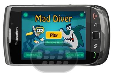 Esta es la segunda parte de su juego favorito Mad Diver. Guía de submarinismo y tratar de evitar este tipo de obstáculos como rocas y peces de presa. Esta vez Diver está equipado con un arpón que ahora se puede disparar a los peces y recoger puntos extra. Compatibilidad BlackBerry OS 5.0 – 7.1 BlackBerry 85xx, 89xx, 9220, 93xx, 95xx, 96xx, 97xx, 98xx, 99xx Descarga BlackBerry World Fuente:blackberrygratuito