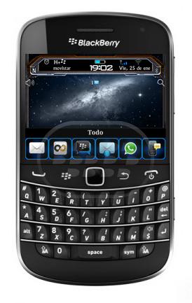 Este es un tema gratuito del espacio, con iconos y gráficos excelentes, muy fluido, la batería y el medidor de señal es personalizado. Compatibilidad BlackBerry OS 7.1 BlackBerry 9900, 9930 Descarga BlackBerry World Fuente:blackberrygratuito