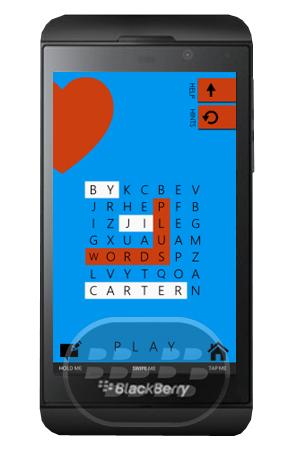 WordsPlus : es uno de los juegos de busqueda de palabras más divertido disponible para BlackBerry 10. Pruebe la versión de pago hoy mismo, Gratis! Características: 3 Temas increíbles Integración BBM (no es necesario) Scoreloop puntuación global y clasificación Top 50 Scoreloop puntuación y posición x lista de amigos logros x Scoreloop Obtener Social! Alardear de su cuenta a través de Facebook y Twitter mano x recogió categorías de palabras basado en temas x 3 niveles de dificultad x Gire el dispositivo en busca de pistas de puzzle Spread The Love! Fácil acceso Compatibilidad BlackBerry OS 10 o Superior Descarga