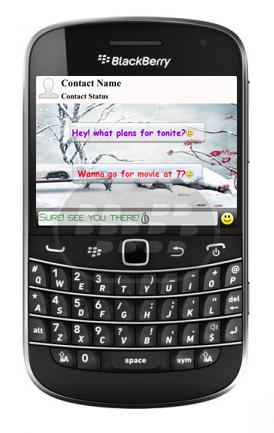 Este es un tema de alta definición para su BlackBerry Messenger, disfrute de una experiencia personalizada. Ahora componer y responder a sus amigos de BBM sera mucho más divertido!Temas de lujo es capaz de cambiar: imágen de fondo BBM, mensajes entrantes y saliente estilo burbuja, color de fuente y mucho más! Características: * 5 plantillas de temas preinstalados HD* Completamente personalizable 'Tema personalizado'* Personaliza la fuente, tamaño, color de encabezado, cuerpo y pie de página de BBM* Fácil de usar Compatibilidad BlackBerry OS 5.0 o Superior BlackBerry 85xx, 89xx, 9000, 91xx, 9220, 93xx, 95xx, 96xx, 97xx, 98xx, 99xx Descarga BlackBerry