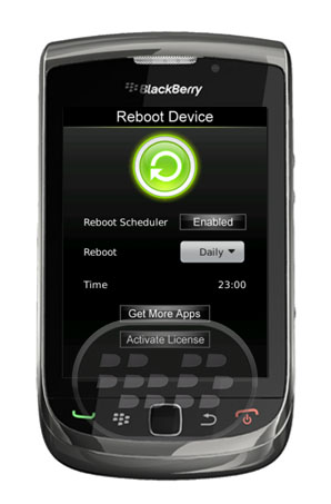 Esta aplicación hacer que se reinicie el teléfono de inmediato con sólo un clic de un botón. No hay necesidad de un tirón de la batería o pulsando surtido de botones para reiniciar el dispositivo!. Características: 1) Operación simple con un solo clic.2) Fácil de usar. Compatibilidad BlackBerry OS 4.6 o Superior BlackBerry 85xx, 89xx, 9000, 91xx, 9220, 93xx, 95xx, 96xx, 97xx, 98xx, 99xx Descarga BlackBerry World Fuente:blackberrygratuito