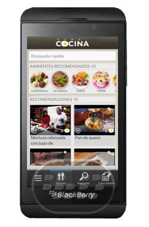 Canal cocina aplicaci n recetas de cocina para blackbery - Canal de cocina ...