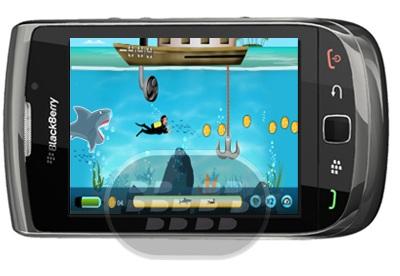 """Shark Attack es juego de acción impresionante estilo """"Treasure Hunt"""" juego mezclado con la diversión y la emoción de las aventuras submarinas. Un joven buzo bajo el agua es en la búsqueda de todos los preciosos tesoros escondidos en las aguas profundas. Pero él tiene que enfrentarse a una mortífera Shark, devorador de hombres en su camino. Rocas del Mar, Pantalones barco y muchos otros también obstaculizar su búsqueda.Características: – 20 emocionantes niveles preenvasados y muchos más en breve– Gráficos llamativo– Muy fácil de jugar e intuitiva interfaz Compatibilidad BlackBerry OS 5.0 o Superior BlackBerry 85xx, 89xx, 9000, 93xx, 96xx,"""