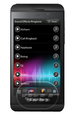 Esta aplicación le brinda ringtones gratuitos para su smarphone BlackBerry 10, tiene 455 de los mejores efectos sonoros tonos a la vez, divididos en 6 categorías: Efectos de sonido, Techno Remix, sonido 3D, tonos latinos, tonos exóticos y tonos de miedo. ¿Cómo asignar tonos? 1. Abra los ajustes. Deslice hacia abajo desde la parte superior de la pantalla de la pantalla de inicio o ejecutar la aplicación de configuración.2. Establecer Notificaciones3. Desplácese hacia abajo y seleccione Notificaciones-Alerts elemento que desea asignar4. Seleccione la caída de tono hacia abajo5. Escoja la opción Browse Music6. Si el icono de abajo a la