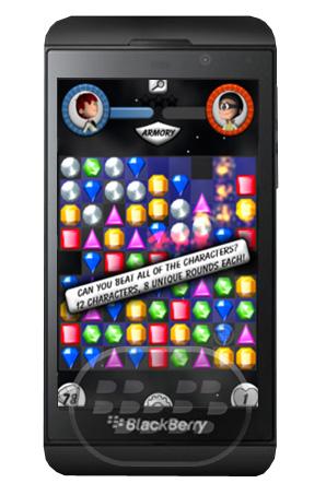 Jewel Wars: es un entretenido juego de rompecabezas de diamantes, con un montón de poderes, oponentes y niveles de habilidad. Características: – 12 diferentes oponentes con habilidades diferentes– 8 rondas para ir a través de uno contra el oponente– Impresionantes power-ups– Hermosos gráficos y sonido– Modo de juego desafiante y bien hechos Compatibilidad BlackBerry OS 10 o Superior Descarga BlackBerry World