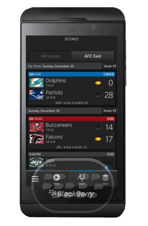 Esta es la aplicación oficial de la NFL, NFL Mobile lleva el fútbol directamente en tu teléfono BlackBerry 10! Recibe las noticias de última hora, momento Vídeo, Resultados en vivo del juego, el equipo de Custom News, manejar su equipo de fútbol de la fantasía, y mucho más! Características: Resultados: recibir hasta a las actualizaciones de puntuación del juego NFL minutos de toda la liga Alertas de equipo por encargo: sigue a tu equipo favorito y recibir alertas personalizadas – incluyendo actualizaciones de lesiones, resaltados, horas de inicio del juego, la entrada en la zona roja, y los juegos de
