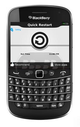Con esta aplicación usted será capaz de reiniciar el teléfono sin necesidad de extraer la bateria, tambieén se puede hacer activar la función de reinicio automático, para que pueda reiniciar el dispositivo automáticamente cuando lo desee.Con sólo hacer clic en Reiniciar ahora opción de menú desde cualquier parte del dispositivo, la aplicación al mismo tiempo. Es fácil de usar para cada las edades. Aun se desconoce si la aplicación expira. Si usted tiene un BlackBerry 10, recuerde que no es necesario ninguna aplicación para reiniciar, solamente presione el boton encendido / apagado durante 2 segundos y seleccione Reiniciar. Compatibilidad BlackBerry