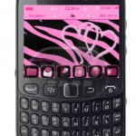 Pink Zebra Heart Tema Cute Para BlackBerry OS 5.0 – 7.1