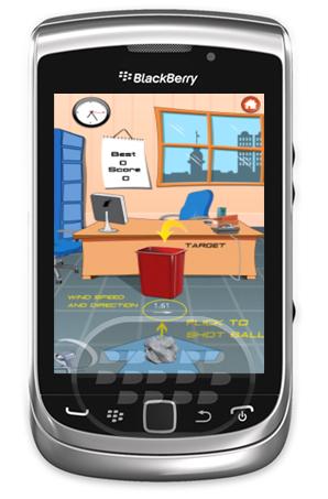 Este es el clásico juego de lanzar una pelota papel en una papelera de metal, tan realista que usted pensará que usted está atascado en la oficina tratando de pasar el tiempo. Establezca nuevos nuevos recórds de aciertos y rete a sus amigos. Compatibilidad BlackBerry OS 5.0 – 7.1 BlackBerry 85xx, 89xx, 91xx, 9220, 93xx, 95xx, 96xx, 97xx, 98xx, 99xx Descarga BlackBerry World Fuente:blackberrygratuito