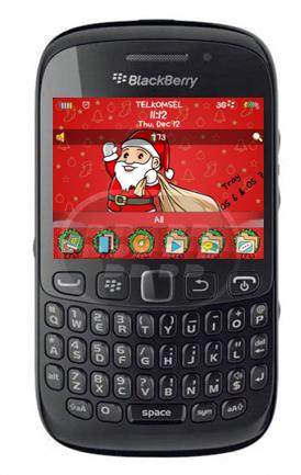"""Santa está viniendo con un montón de regalos, Mumuku presenta este tema bonito tema de navidad para usted, fondo de pantalla, medidor de batería e iconos son personalizados. """"Feliz Navidad y Feliz Año Nuevo"""" Compatibilidad BlackBerry OS 5.0 – 7.1 BlackBerry 85xx, 89xx, 91xx, 9220, 93xx, 95xx, 96xx, 97xx, 98xx, 99xx Descarga BlackBerry World Fuente:blackberrygratuito"""