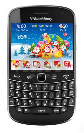 Este es un bonito tema de navidad con un fondo de pantalla de santa claus, los iconos, medidor de señal y batería son personalizados. En dispositivos BlackBerry con sistema operativo 7.1 no se encuentran las pantallas personalizadas y se pueden presentar algunos errores como no encontrar el icono de música y el botón de busqueda universal, entre otros. El estilo de texto en el BBM no incluyen en los temas. Compatibilidad BlackBerry OS 5.0 – 7.1 BlackBerry 85xx, 89xx, 91xx, 9220, 93xx, 96xx, 97xx, 98xx, 99xx Descarga BlackBerry World Fuente:blackberrygratuito