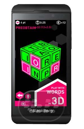 Este es un juego de palabra libre en 3D con una competencia permanente en tiempo real, una nueva ronda comienza cada 4 minutos. Juega real contra gente de todo el mundo! Principios de juego:– Arrastre el dedo para crear palabras– Gire el cubo para encontrar más palabras– Encuentra las 6 palabras de bonificación para optimizar sus puntos– 3 poderes-ups a utilizar para ayudarle a vencer a tus oponentes– Estadísticas completas para comprobar y mejorar su juego– 55 trofeos para desbloquear– A modo de entrenamiento para aprender el juego o jugar offline Personaliza tu juego: 24 temas de color, más de
