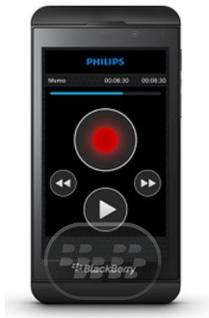 Esta es una excelente aplicación grabadora de voz para BlackBerry 10. Grabación, edición y envío de archivos de dictado desde su BlackBerry ofrece flexibilidad móvil y reduce el tiempo de entrega de documentos. SpeechExec es el compañero perfecto para su BlackBerry , ofreciendo todo lo necesario para la compra segura , flujo de trabajo de dictado inalámbrico. Mejore su productividad• La grabadora de dictado de Philips para BlackBerry ofrece funciones de edición como insertar, sobrescribir y agregar para la grabación profesional• Definición de prioridades para conseguir trabajos urgentes procesa primero Diseñado para profesionales• Una interfaz de usuario clara intuitivamente le