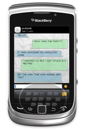 Con esta aplicación usted puede agregar temas en su visor de SMS para mejorar su experiencia en el chat!!!. Modifique los estilos de fuente y ver los textos en fondos increíbles. Características:• Elija entre cinco temas atractivos.• Personalizar los estilos de fuente para el pie de página y el encabezado de SMS• Personalizar los tamaños de fuente y en cursiva o en negrita los textos• Personalizar los estilos de fuente Compositor y elegir diferentes tipos de letra para los mensajes entrantes y salientes• Fácil de usar y cambiar temas sin esfuerzo. Compatibilidad BlackBerry OS 5.0 – 7.1 BlackBerry 85xx, 89xx,