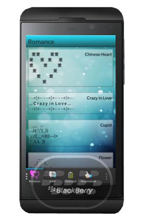 Esta utilidad le permite copiar y pegar en sus mensajes arte de texto de forma rápida y sencilla, esta aplicación viene con bastantes caras predefinidas para expresar su estado de ánimo todos, ya sea feliz o triste, enojado o contento, puede dejar que el destinatario del texto sabe qué se siente! Para Insertar texto Smiley, sólo tienes que abrir la aplicación y seleccionar el texto deseado Smiley copiar y compartirlas. Compatibilidad BlackBerry OS 10 o Superior (Q5, Q10, Z10, Z30 y P9982) Descarga BlackBerry World