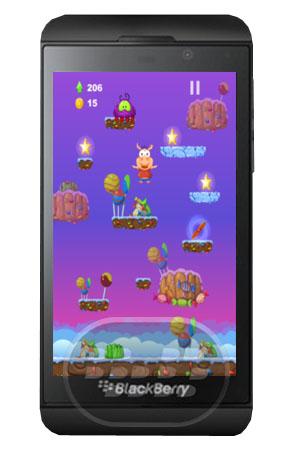 Conoce Perry es un cerdito amigable, ayúdelo a subir en el cielo y jugar una aventura fantástica con él, lo unico que tiene que hacer usted es continuar saltando hasta llegar a lo más alto posible, recoger estrellas para artículos especiales y actualizaciones. Utilice helicóptero y Rocket para levantarse más rápido o para un alto mega salto, pero tenga cuidado hay algunos pequeños monstruos y trampas que se detiene mientras se salta. Compatibilidad BlackBerry OS 10 o Superior (Z10, Z30 y Z30) Descarga BlackBerry World Fuente:blackberrygratuito